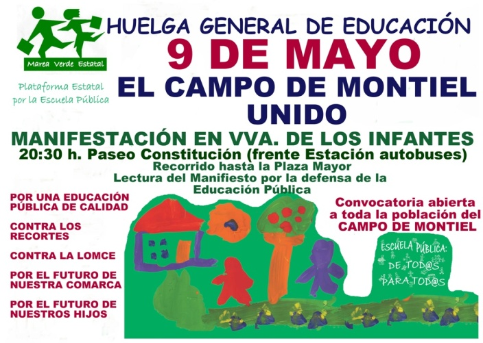 huelga 9-M Campo de Montiel